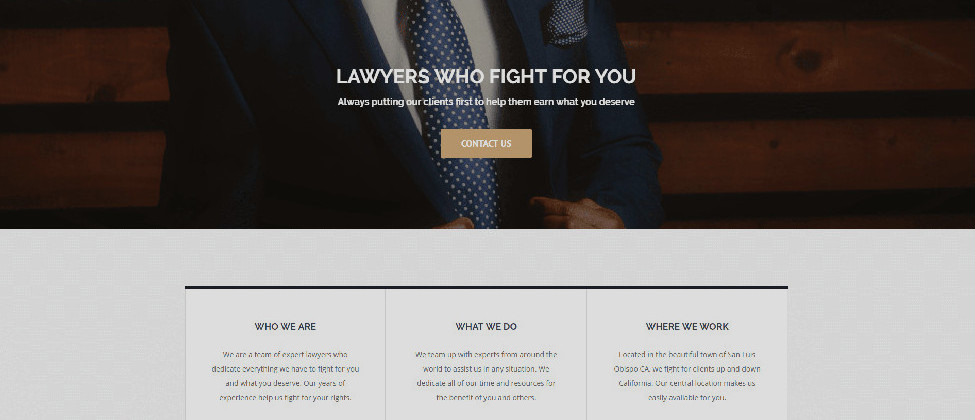 Premium Lawyer Website Demo