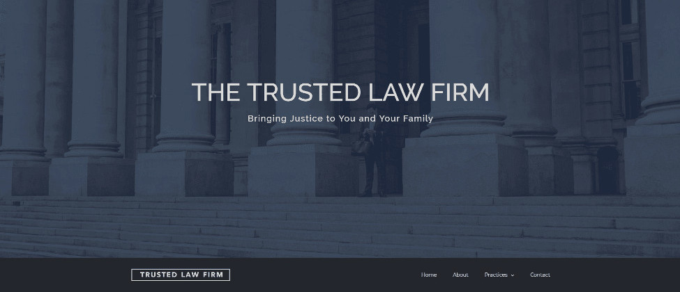 Trusted Firm Lawyer Website Demo